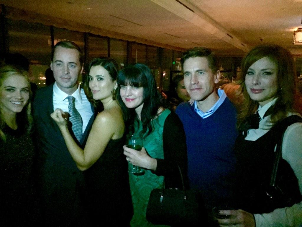 """""""@BrianDietzen: Had a great time at the @CBS party tonight. http://t.co/ysLOPg06iX"""" Love how we're all looking at different cameras:)"""