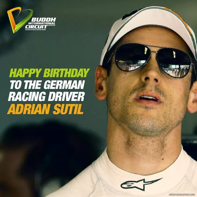 Happy Birthday to the racing driver - Adrian Sutil !