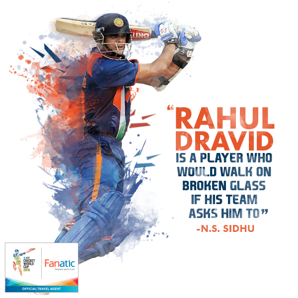 Wishing Rahul Dravid, a very Happy Birthday! A few wise words for the man!