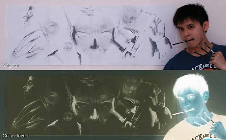 This is the art of Brian Lai, he draws in negatives. http://t.co/A1fW5uJAXX