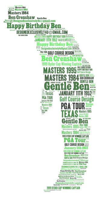 Happy Birthday Ben Crenshaw - opposing Capt 1999