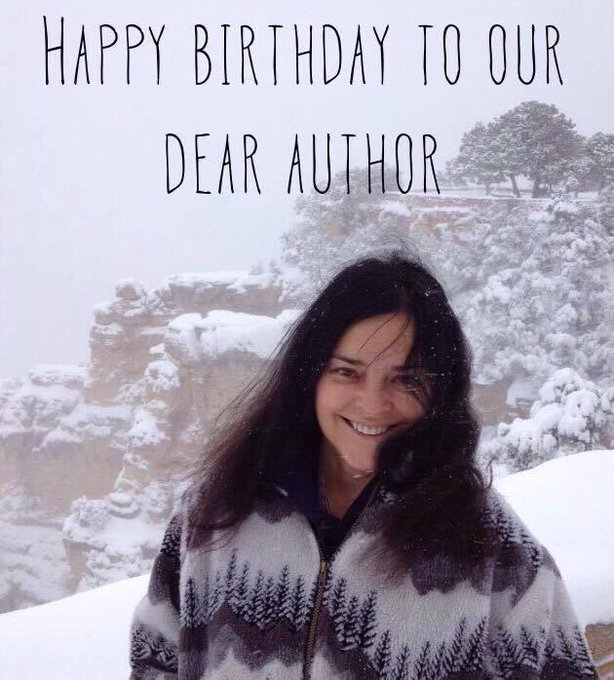 Diana Gabaldon. I\ve never been so pulled into a book before. TY.  Enjoy & Happy Birthday!