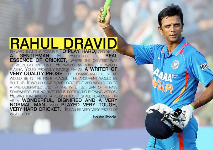 "# happy Birthday \""THE WALL\"" Rahul Dravid :)"