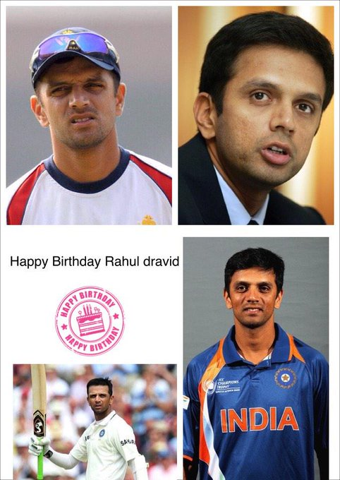 Happy Birthday to Rahul Dravid my first fav cricketer today and always