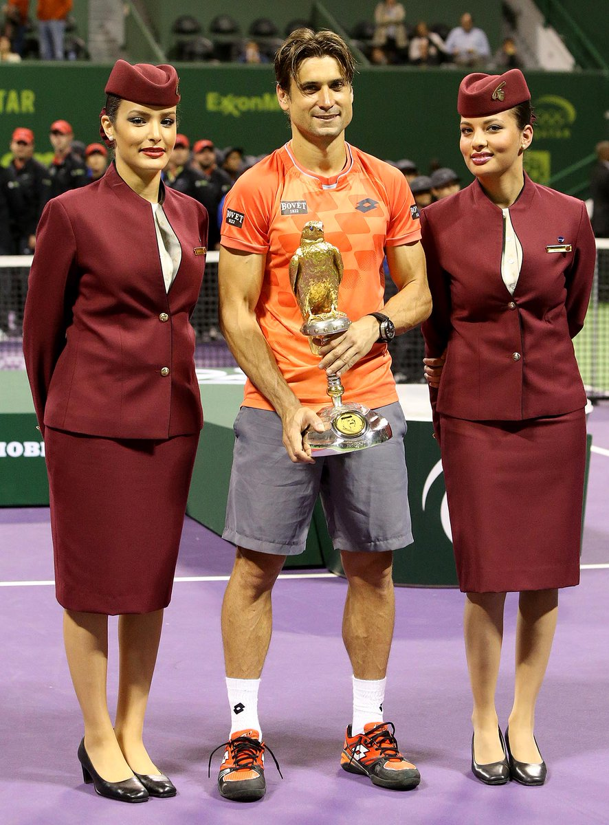 QatarAirways and @QatarDutyFree congratulate the winner of the Qatar ExxonMobil Open 2015.