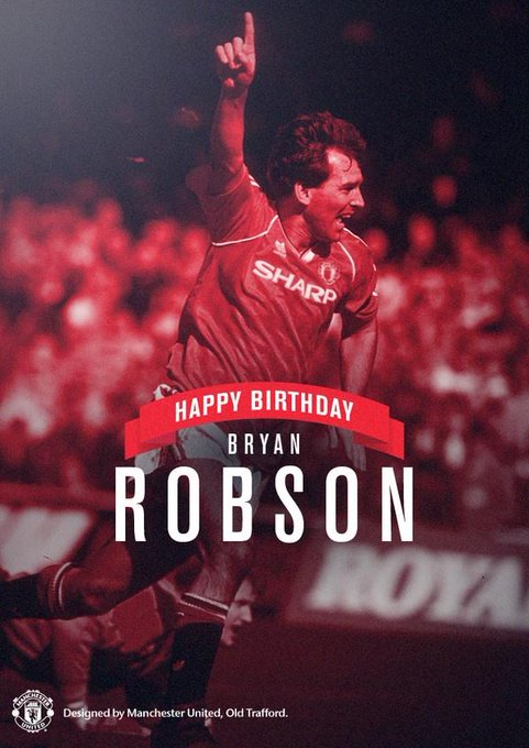 Happy 58th birthday to Legend Manchester United, Bryan Robson.