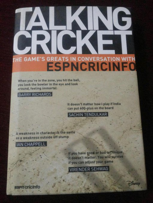 Happy Birthday Rahul Dravid.This book was the reason how I cld meet you not just once bt twice.Special thanks to ESPN