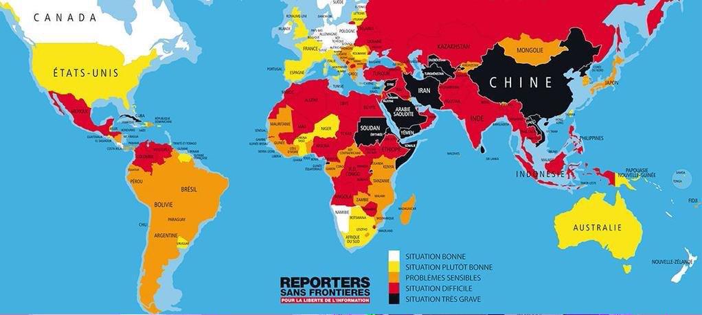 L'état de la Liberté d'expression dans le Monde @Slate.fr #JeSuisCharlie #MarcheRépublicaine #LibertéDexpression http://t.co/SsVrWx9k1b