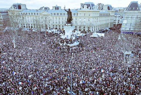 Amazing to witness, #ParisMarch for solidarity. http://t.co/RI3pZ5XE5u