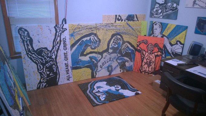 Hi. I\m Adam & I paint Tony Allen. - Me at Painters Anonymous! Happy Bday