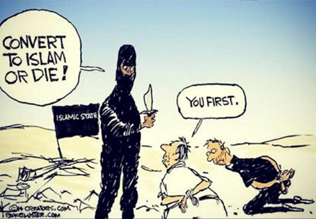 The best #CharlieHebdo cartoon yet. Outstanding. http://t.co/EwQWpYqegk