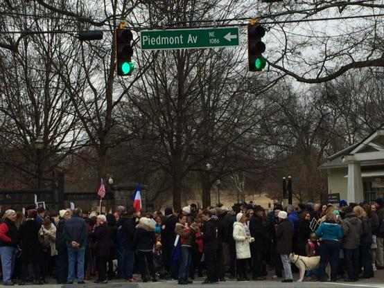 The Atlanta march gathers. Piedmont Park. #JeSuisCharlie http://t.co/VXN1l2XLHV