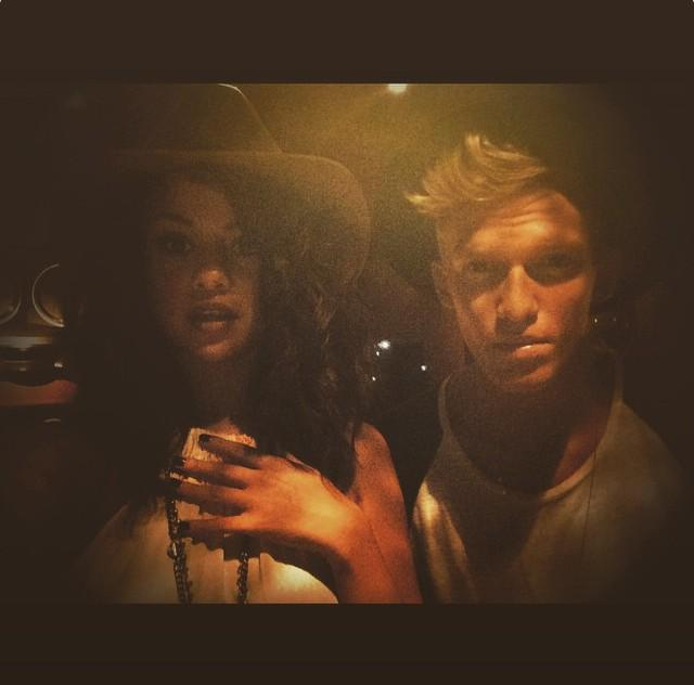 Selena wishing Cody Simpson a happy birthday