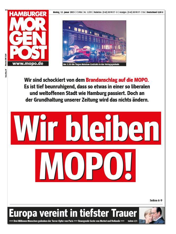 An der Grundhaltung unserer Zeitung wird sich nichts ändern. Wir bleiben MOPO! http://t.co/49Fv3VU78C
