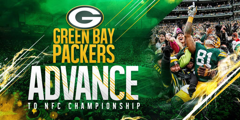 On to Seattle!  #Packers defeat the #Cowboys 26-21 to advance to the NFC Championship game. http://t.co/DSYY9FFEFN