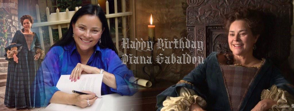 Happy Birthday Diana Gabaldon! Thank you! We love