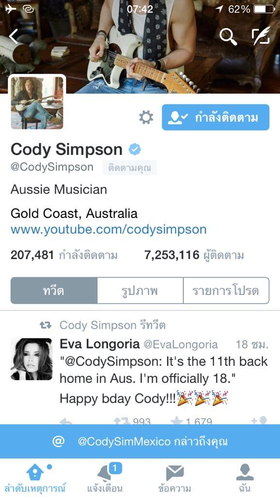 Happy Birthday  Cody Simpson 18 years old   thank follow me