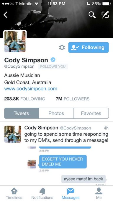 Happy 18th birthday to the bestest Aussie Cody Simpson  I love you so much and hope you have a splendid day