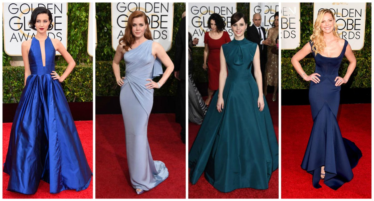 In a #SchemeofBlue, @JuliaGTelles , @TheAmy_Adams , @jonesfelicity and @KatieHeigl stun the runway in #ClassicStyles http://t.co/YCDy4A07iy