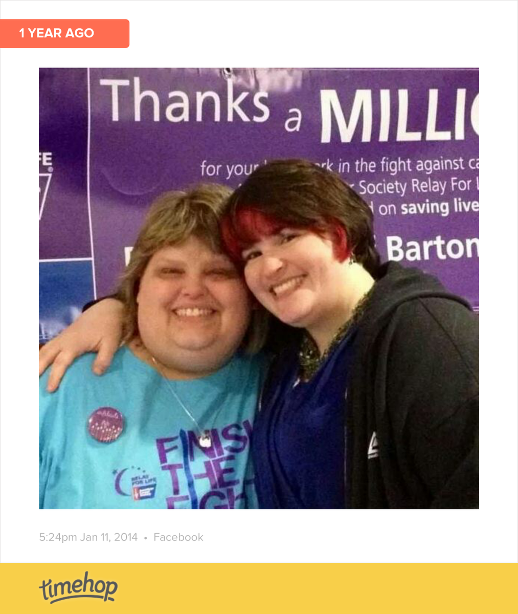 My beautiful friend Kandi and I at last year's Relay For Life kickoff. I was honored to perform a couple songs fo... http://t.co/g70MG0bTln
