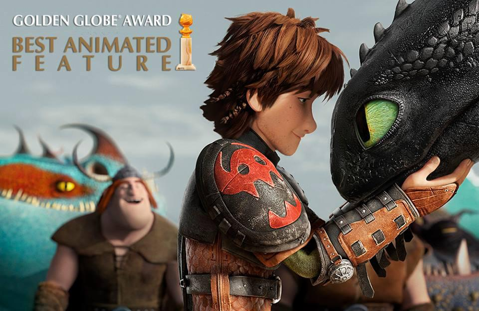 CONGRATS to the cast and crew of #HTTYD on winning Best Animated Feature at the #GoldenGlobes tonight! http://t.co/lbFPwEe8d5