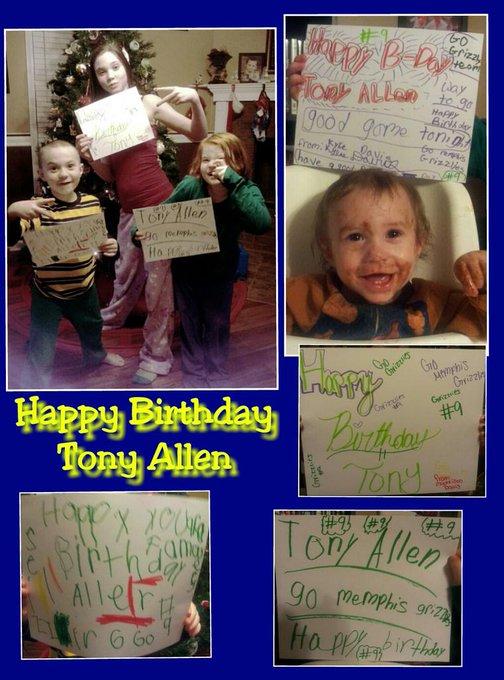 Happy Birthday Tony Allen! From the Davis Family