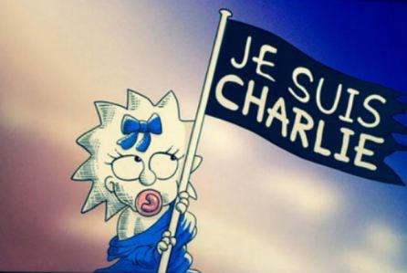 Closing image of @JuddApatow's #Simpsons ep paying tribute to #CharlieHebdo #JeSuisCharlie http://t.co/GQVaASNMcg