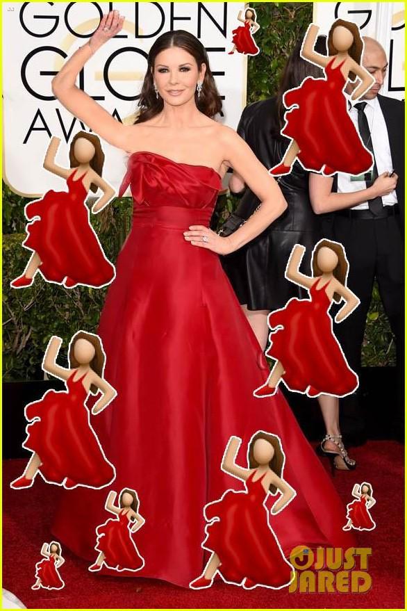Catherine Zeta-Jones dressed as the salsa emoji last night (via @JustJared) http://t.co/KTAarSTziX