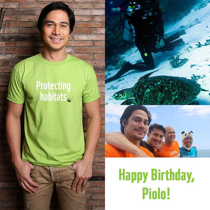 Join us in greeting WWF Environmental Steward Piolo Pascual a happy birthday!
