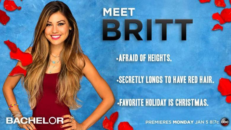 Who is britt from bachelorette hookup now