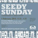 The next Seedy Sunday in Brighton will be on Sunday 1st February 2015, 10.30 - 4.30 at Brightons Corn Exchange. http://t.co/wTYuv4BbsT