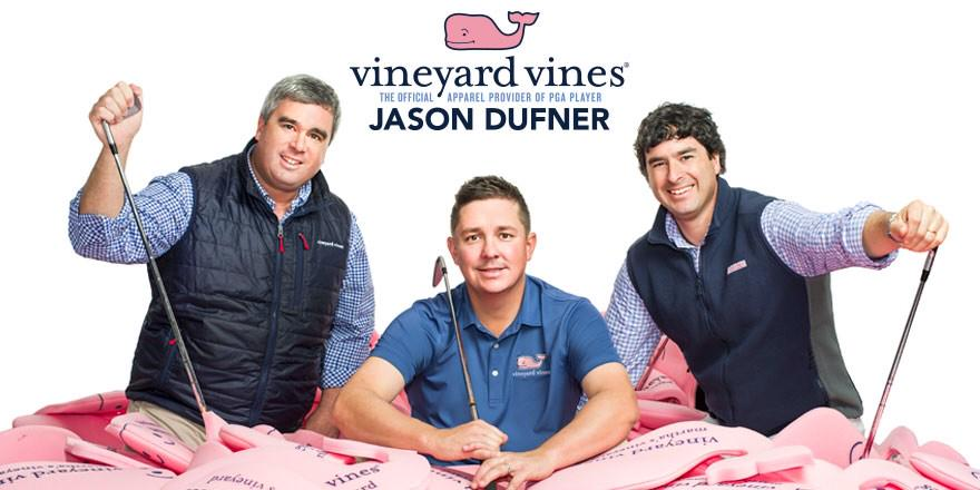 Teamed up with Shep & Ian @vineyardvines - can't wait to sport the whale on the golf course #VVDufDaddy http://t.co/IO2ugYPXX1