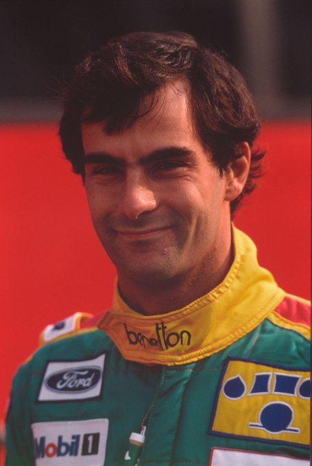 Happy birthday to former Benetton driver Here he is at the wheel of the B189-Ford. What a livery!