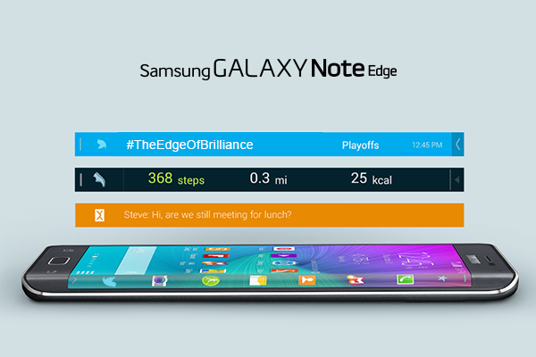 Experience #TheEdgeOfBrilliance. Access all your shortcuts and apps on the Edge screen in the #GALAXYNoteEdge. http://t.co/33tDyZZ6S0