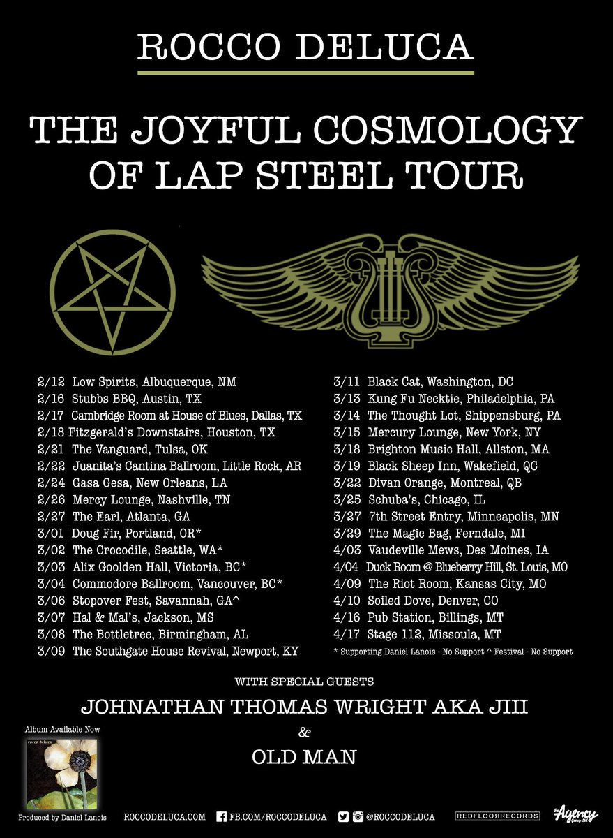 """The Joyous Cosmology of Lap Steel Tour"" begins February 2015. Tickets go on sale Friday, January 16th, 10am. http://t.co/iLa6LhCzYe"