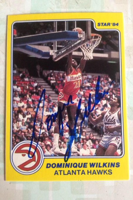 Happy 55th birthday to Dominique Wilkins . I think this is his first card .