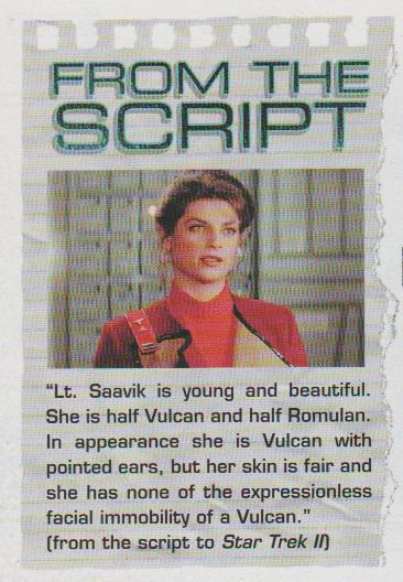 Happy Birthday to Kirstie Alley who played Lt. Saavik in II. [Star Trek Magazine issue Sept/Oct 2010]