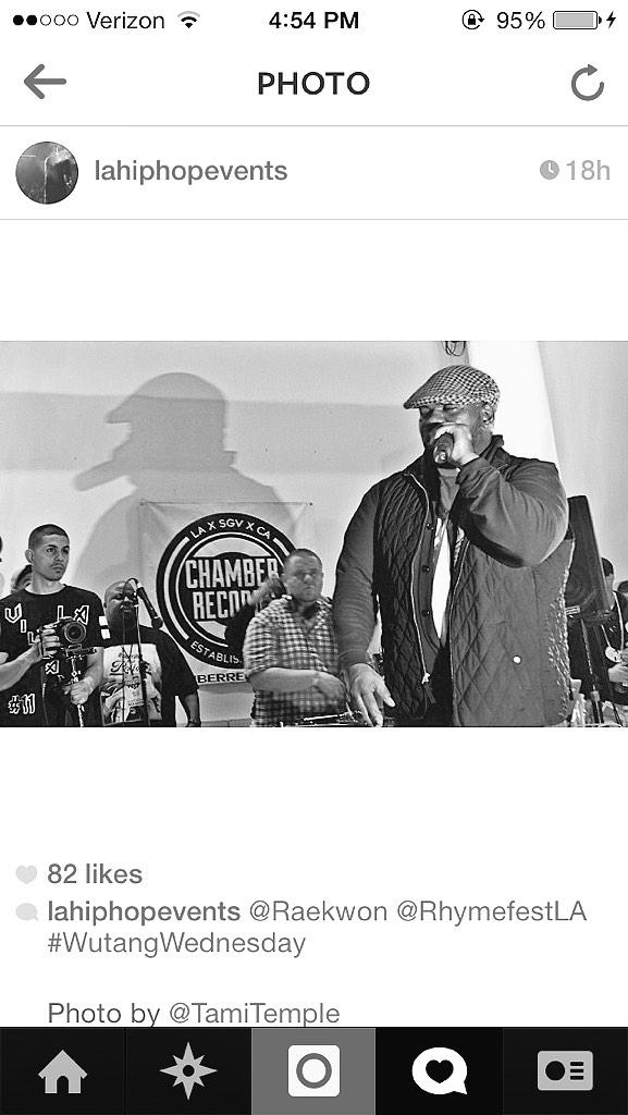 Happy Birthday to the Chef @Raekwon! #salute #HipHop #KDAY   Photo Cred ---> @LAHipHopEvents http://t.co/5HHDMTkeib