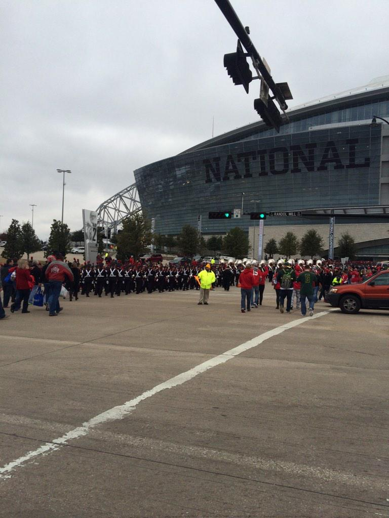 The Best Damn Band In the Land has arrived.  Go #gobucks http://t.co/xYxmZOTODa