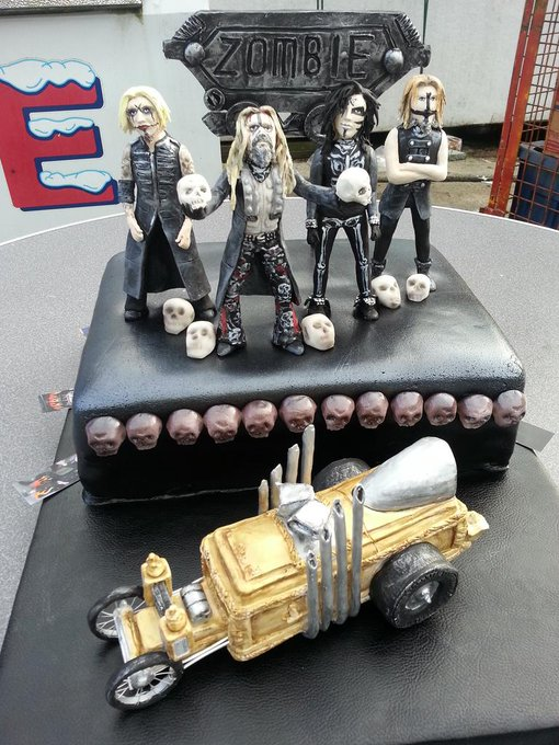 Happy Birthday ROB ZOMBIE!!  Celebrate with some  Rob Zombie Cake by Rock Candy Cakes NY