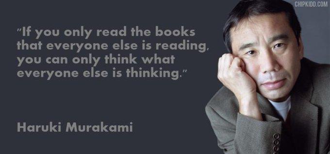 Happy birthday to one of my favourite authors, Haruki Murakami, 65 today.