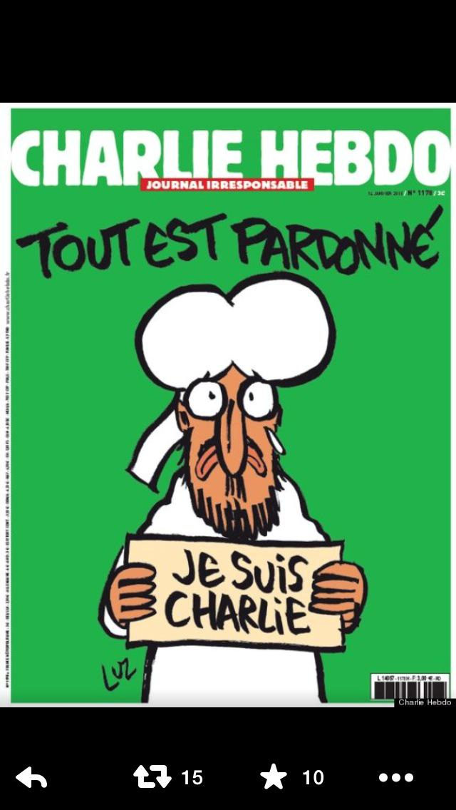 The latest Charlie Hebdo cover.If all of us retweet it we send out a message to fanatics that we will not be silenced http://t.co/V7yzSM3KtY