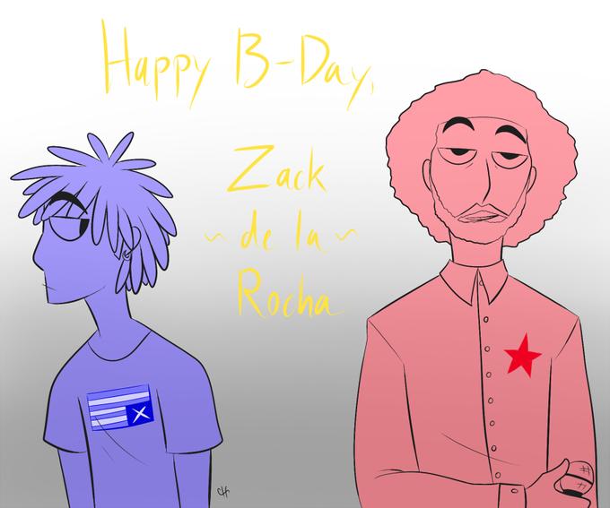 Woahh happy birthday Zack de la Rocha, 45 today.