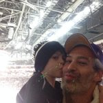 Me and my son shalom @LAKings game!
