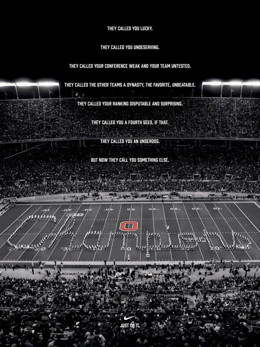 Nike salutes Ohio State's improbable win. http://t.co/pE9pXGyiFI