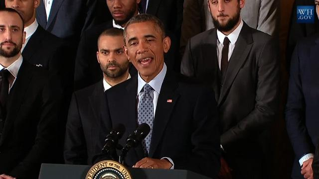 WATCH: Barack Obama ROASTS the Spurs