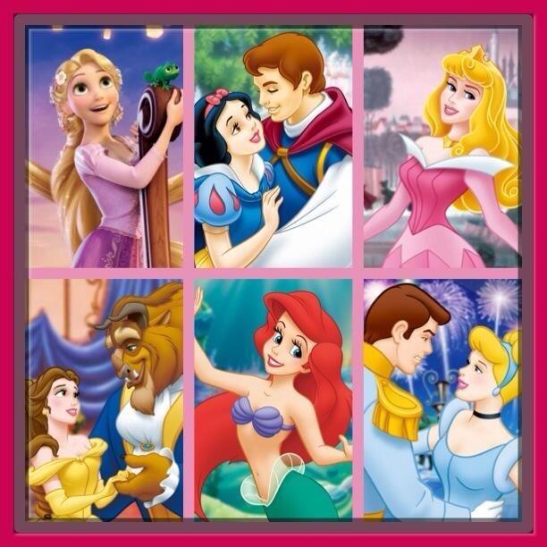 白雪12歳♡王子18歳ラプンツェル18歳♡フリン22歳オーロラ姫16歳♡フィリップ王子23歳アリエル16歳♡エリック王子