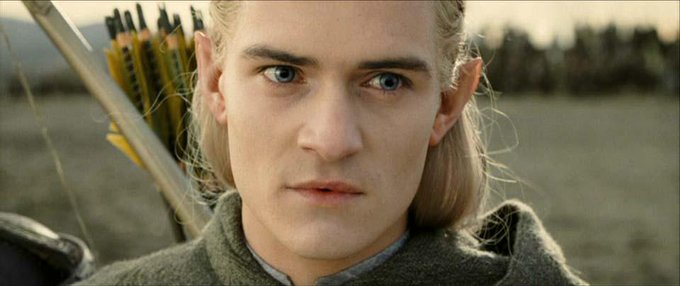 A red sun rises. Blood has been spilled this night. Happy birthday to Orlando Bloom. Legolas for his closest friends.