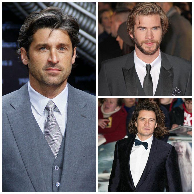 Happy Hunky Birthday Day Patrick Dempsey, Orlando Bloom, and Liam Hemsworth