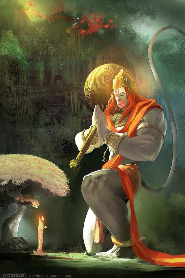 Gorgeous artwork this RT@PawanDurani: Hanuman http://t.co/znz02NLHYJ